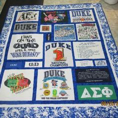 Custom Made King Size T Shirt/Memory Quilt by Stitches by Stiles ...