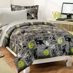 My-Room-Extreme-Skateboarding-Boys-Comforter-Set-With-180Tc-Sheets-Gray-Twin-0