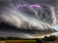 Photographer David Hardy captured this breathtaking photograph of a supercell thunderstorm forming off the coast of New Zealand.