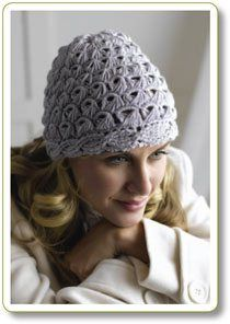 Crochet Hat Cables & Lace Broomstick
