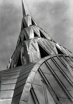 The Chrysler Building, The Queen of Art Deco New York City, New York by Margaret Bourke-White Chrysler Building, Harlem Renaissance, Bauhaus, New York City, Art Nouveau, Margaret Bourke White, Architecture Design, Church Architecture, Manhattan