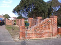 Front brick fence