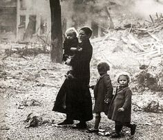 Italy - WWII.  Even though this scene is vey sad, they are still so very cute.