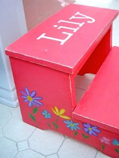 Hand Painted Girl Monkey Flip Step Stool | Awesome Girls and Step stools & Hand Painted Girl Monkey Flip Step Stool | Awesome Girls and Step ... islam-shia.org