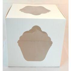 White Giant Cupcake Box - Keep your giant cupcake safe from damage in this White giant cupcake box. Fruit Cupcakes, Giant Cupcake Cakes, Ladybug Cupcakes, Snowman Cupcakes, Cupcake In A Cup, Big Cakes, Rose Cupcake, Cupcake Display, Cupcake Boxes
