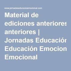 Material de ediciones anteriores | Jornadas Educación Emocional