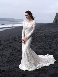 Show-stopping gowns set against the landscape of Iceland.