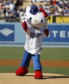 L A dodgers Kitty