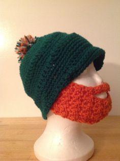 Mens crochet St Pattys day hat by KrosheyKurve on Etsy, $12.00   -LOL