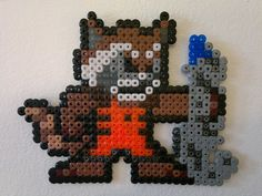 Guardians of the Galaxy - Rocket Raccoon (Mega Man style) perler beads by Björn Börjesson