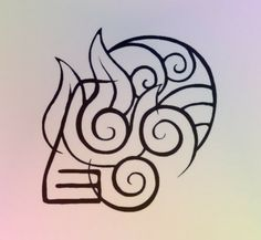 Made for a friend, is a combination of all the element symbols from the TV show Avatar The Last Airbender Avatar Elements Tattoo Avatar Aang, Avatar The Last Airbender Art, Team Avatar, Simbolos Tattoo, Body Art Tattoos, New Tattoos, Girl Tattoos, Tatoos, Wrist Tattoos