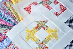Blogger Girls Block of the Month 2014 ... my fabric choices and my first two blocks... Pleasant Home