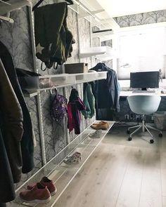 Vår walkin garderobe er på plass og skal fylles i løpet av. Wardrobe Rack, Desk, Furniture, Home Decor, Pictures, Desktop, Decoration Home, Room Decor, Table Desk