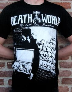 """Ossuary"" t-shirt from Death To The World."