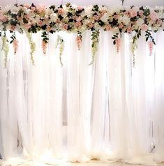 New rustic bridal shower backdrop head tables Ideas Bridal Shower Backdrop, Bridal Shower Rustic, Ceremony Backdrop, Head Table Backdrop, Wedding Backdrops, Wedding Centerpieces, Wedding Table, Wedding Decorations, Wedding Ceremony