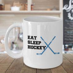 Hockey Mug Eat Sleep Hockey Hockey Cup Hockey Gifts Hockey