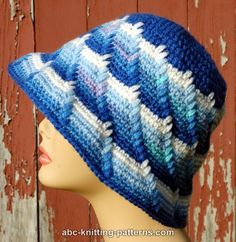 ABC Knitting Patterns - Let It Snow Cloche