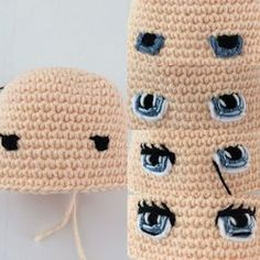 A free Amigurumi Dog pattern that shows you how to use Brush Crochet to create the most adorable fluffy doll with a realistic furry look. Best crochet dolls omg i m completely in love with these dolls so cute salvabrani amigurumi crochet knitting amigurum Crochet Eyes, Crochet Bunny, Diy Crochet, Crochet Crafts, Yarn Crafts, Crochet Projects, Crochet Amigurumi Free Patterns, Crochet Doll Pattern, Knitted Dolls