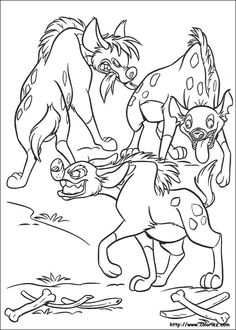 Disney Coloring Pages Books Colouring Hyena Jungle Safari The Kings Concept Art Lions Images