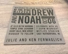 NEW leather invitations. This example was laser engraved into the gray leatherette. Have you ever received an invitation like this in the mail? East Rutherford, Price Quote, Bar Mitzvah, Laser Engraving, New Jersey, Corporate Events, Special Events, Online Business, How To Memorize Things