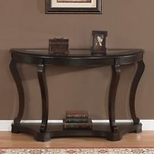 Geurts Espresso Sofa Table - Overstock Shopping - Great Deals on Coffee, Sofa & End Tables Entryway Furniture, Furniture For Small Spaces, Living Room Furniture, Entryway Tables, Home Furniture, Entrance Table, Furniture Ideas, Modern Sofa Table, Wood Sofa Table