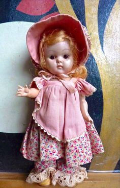 Vintage Vogue Ginny strung doll #DollwithClothing