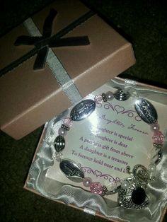 Initial K daughter bracelet keepsake for Keely