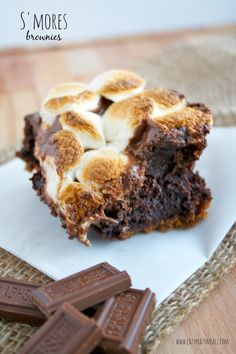 S'mores Brownies - Eazy Peazy Mealz