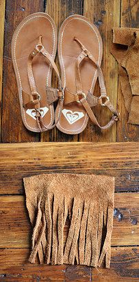 Add a boho vibe to your favorite pair of simple summer sandals. See how to make them here.