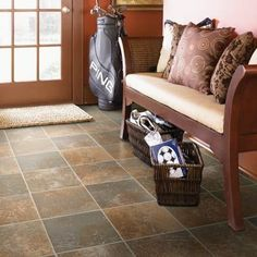 Rustic Tile Vinyl Flooring - Available at Express Flooring Deer Valley North Phoenix Arizona
