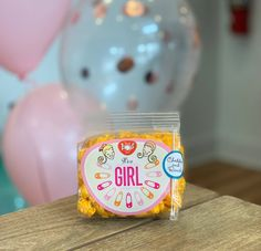 It's A Girl! gourmet popcorn favors for baby showers - available in It's A Boy! and gender neutral as well