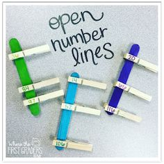 Working with open number lines is a fantastic way for first grade students to develop a deep understanding of number sense and prepare them for more complicated mental math problems in the future. Read about all the ways I have students practice addition, subtraction, and more by using open number lines during guided math, mini-lessons, or as independent practice.