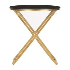 Kivanc Accent Table with Black Top