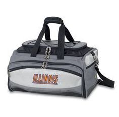 University of Illinois BBQ set by WTC Trading Co.. $204.95. Description:  The Buccaneer is a Picnic Time original design and the ultimate tailgating cooler and barbecue set in one! Don't be fooled by other similar looking items on the market. Only Picnic Time's Buccaneer features a PVC cooler that conveniently nests inside the compartment that houses the portable BBQ. The tote can carry the BBQ and a fully-loaded cooler at the same time! This patented, innovative design...