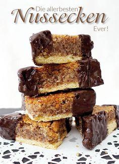 Delicious Nussecken recipe with a small, sophisticated secret- Köstliches Nussecken Rezept mit einem kleinen, raffinierten Geheimnis A nutcracker recipe, as it can hardly be better and … - Easy Cookie Recipes, Dessert Recipes, Dessert Blog, Texture Photoshop, Best Pancake Recipe, Pancake Recipes, Bread Recipes, Chocolate Donuts, German Recipes