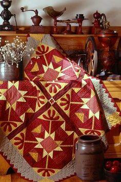 Antique crib quilt