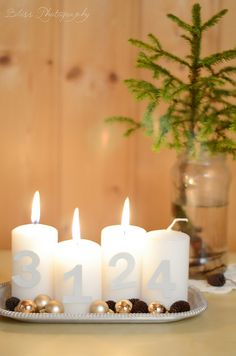 lovely, simple advent wreath