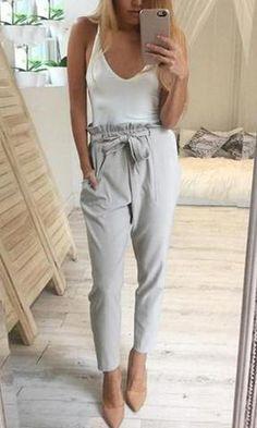 Chiffon high waist harem pants Women stringy selvedge Spring style casual