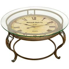 Maxwell Clock Coffee Table - love this!
