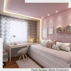 """2,057 Likes, 17 Comments - ArquiteturadeCoração (@arquiteturadecoracao) on Instagram: """"Um sonho para as mamães de princesa. O papel de parede foi até o teto e recebeu moldura com…"""""""