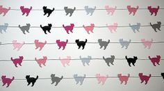 Kitty garland Cat garland Animal paper by TransparentEsDecor, $10.00