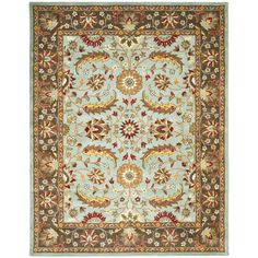 Heritage Blue/Brown 9 ft. 6 in. x 13 ft. 6 in. Area Rug