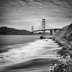 Items similar to Golden Gate Bridge, San Francisco - Extra Large Framed Black and White Photo Print up to x Landscape for Home and Office Decor on Etsy Framed Canvas Prints, Canvas Frame, Black And White Prints, Photo Wall Art, Ansel Adams, Golden Gate Bridge, Travel Photography, Things To Come, Fine Art