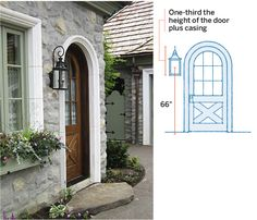 More than just a beacon leading to the front door, exterior lighting helps define the look of a house. With planning and a bit of math, you can put your home's best face forward Front Door Lighting, Entry Lighting, Front Door Decor, Exterior Lighting, Outdoor Lighting, Lighting Ideas, Pergola Lighting, Landscape Lighting, This Old House