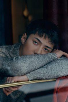 Sehun - featured on Vogue Korea's homepage & fashion category Exo Ot12, Chanyeol, Sehun Hot, Alien Life Forms, Medicine Student, Boy Idols, Exo Lockscreen, My Bebe, Dream Boy