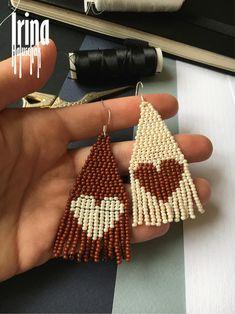 Seed Bead Earrings, Fringe Earrings, Unique Earrings, Etsy Earrings, Beaded Earrings, Earrings Handmade, Seed Beads, Beaded Jewelry, Hama Beads