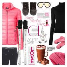 """""""Skiing COFFEE Valentine DATE"""" by crochetragrug ❤ liked on Polyvore featuring EA7 Emporio Armani, Perfect Moment, Dsquared2, Moncler, The North Face, Carrera, Kari Traa and Martha Stewart"""