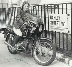Elispeth Beard...started in the US, going on to Australia, Thailand, India, Nepal, Pakistan, Iran, Turkey, Greece, Yugoslavia then back into western Europe and home, becoming the first British woman to circumnavigate the world by motorcycle.