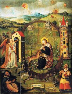 Annunciation - as the hunt of the unicorn, Altarpiece (1525-50) - JWE D353 Erfurt (im Magazin des Diözesan-Kunst-Museums, not on view)