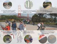 As part of a larger effort to transform the former the Presidio— a former military base— to an active public space, Surfacedesign worked to connect the Main . Public Square, Golden Gate Bridge, Architects, Military, Building Homes, Military Man, Army, Architecture